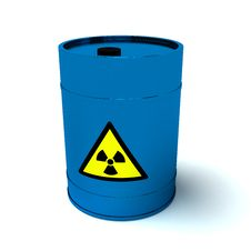 Free 3d Blue Barrel Radioactive Waste Stock Photo - 19042040
