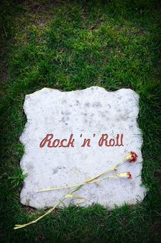 Free Rock  N  Roll Is Dead Stock Photos - 19042183