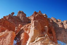 Free Charyn Canyon In Kazakhstan Royalty Free Stock Photography - 19042317