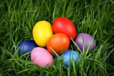 Free Colorful Easter Eggs Stock Photos - 19042623