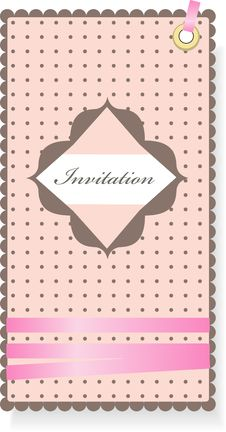 Free Vintage Pink Invitation Stock Photography - 19042652