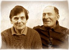 Happy Elderly Family Stock Photos