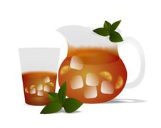 Free Glass Of Tea, Cdr Vector Stock Images - 19042994
