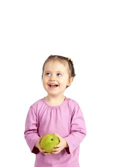 Free The Child With An Apple Royalty Free Stock Photos - 19043038
