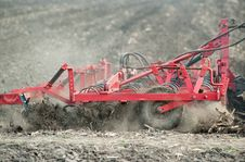 Preparing The Soil In The Field
