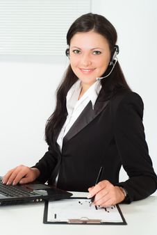 Free Nice Girl In A Black Business Suit Stock Photography - 19045342