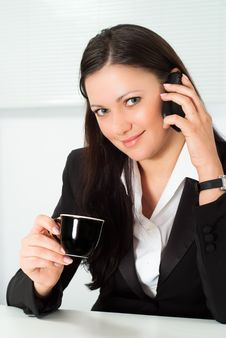 Free Nice Girl Talking On The Phone Royalty Free Stock Photography - 19045377