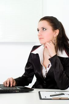 Woman Working In The Office Stock Photos