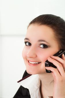 Free Nice Girl Talking On The Phone Stock Image - 19045551