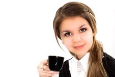 Free Beautiful Woman Drink Royalty Free Stock Photo - 19045585