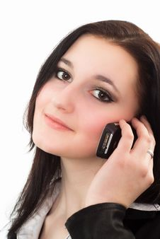 Free Nice Girl Talking On The Phone Royalty Free Stock Photography - 19045687
