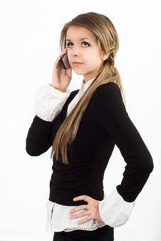 Free Nice Girl Talking On The Phone Royalty Free Stock Photos - 19045698