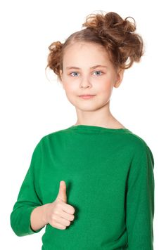 Free Smiling Girl Gesturing Ok Sign Royalty Free Stock Photography - 19045837
