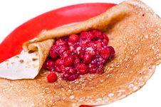 Free Berries Wrapped In A Pancake Royalty Free Stock Photography - 19046217