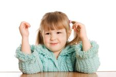 Free Little Girl Dreams Stock Photography - 19046342