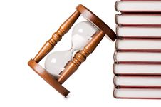 Hourglasses And Book Royalty Free Stock Photo