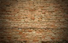 Free Old Red Brick Wall Stock Image - 19046381