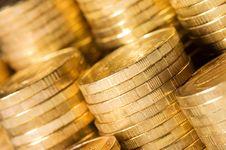 Coins Macro Close Up Stock Image