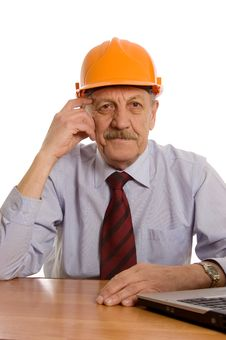 Free Engineer At The Computer Royalty Free Stock Photos - 19046428
