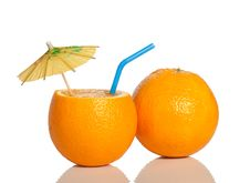 Orange As A Drink Stock Image