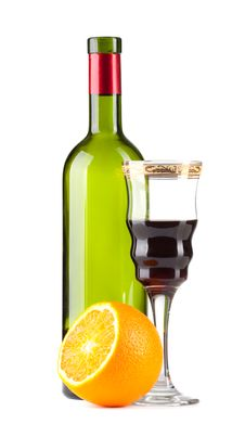 Free Wine Bottle And Wineglass Stock Photos - 19046913