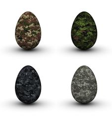 Free Military Easter Eggs Stock Photos - 19047003