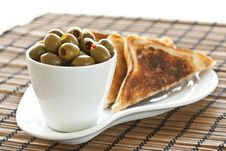 Free Olives And Toast Stock Image - 19047061