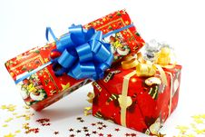Free Christmas Gift Boxes Royalty Free Stock Images - 19047289