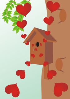 Free Starling House On A Tree Royalty Free Stock Images - 19047629