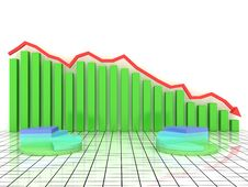 Free Economic Graph Of Incidence Of The Green Boxes Royalty Free Stock Photo - 19047865