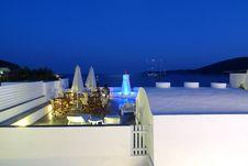 Summer Night In A Greek Island Royalty Free Stock Photo