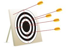 Free Vector Of Target And Arrows Royalty Free Stock Image - 19047966