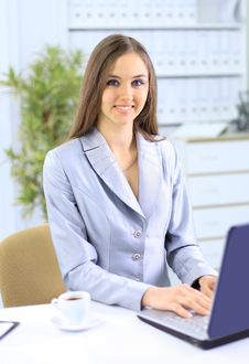 Free The Beautiful Business Woman Royalty Free Stock Photo - 19048025