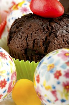Free Chocolate Muffin  Closeup Royalty Free Stock Photo - 19048385