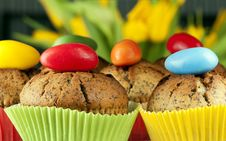 Free Easter Muffins Stock Photography - 19048412
