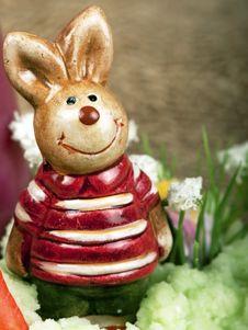 Free Easter Bunny Figure Stock Photo - 19048500