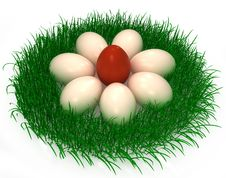 3d Easter Eggs Royalty Free Stock Image