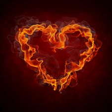 Free Burning Heart Stock Photos - 19049013