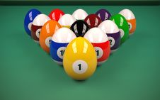 Easter Billiard Balls Stock Photography