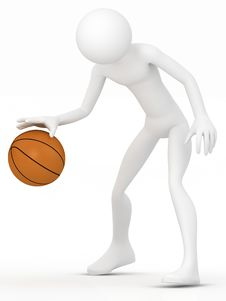 Free 3d Human Basketball Player. Stock Photos - 19049333