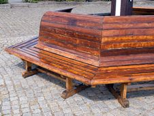 Free Wooden Bench In A Park Royalty Free Stock Image - 19049896