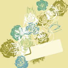 Free Floral Postcard Royalty Free Stock Photography - 19049977