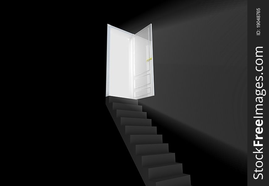 Stairway to the light.