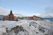Free Barentsburg - Russian City In The Arctic Royalty Free Stock Photos - 19050168