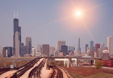 Free Chicago Skyline Royalty Free Stock Images - 19050609
