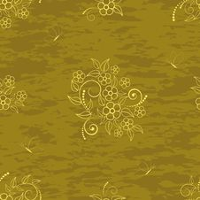 Free Seamless Pattern With Flowers. Royalty Free Stock Photography - 19051437