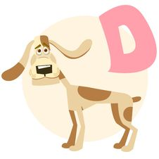The English Alphabet. Dog Royalty Free Stock Photography
