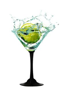 Free Water Crown In Cocktail Glasses Stock Photography - 19052202