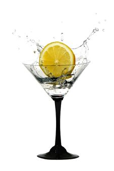 Free Water Crown In Cocktail Glasses Stock Images - 19052204