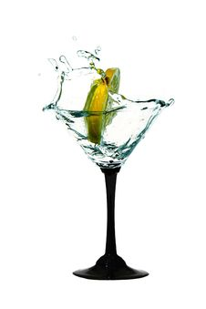 Free Water Crown In Cocktail Glasses Royalty Free Stock Photo - 19052205
